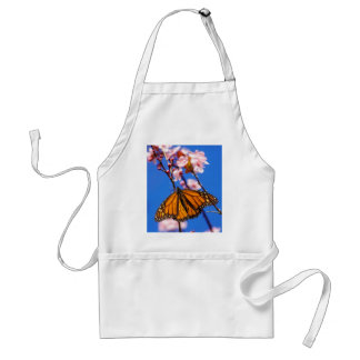 Monarch on Cherry Blossom Adult Apron