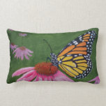 Monarch on Coneflower Pillow