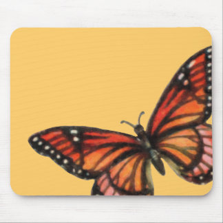 Monarch on Custom Color Background Mouse Pad