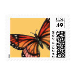 Monarch on Custom Color Background Postage Stamps
