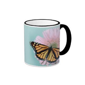 Monarch on Daisy Ringer Mug