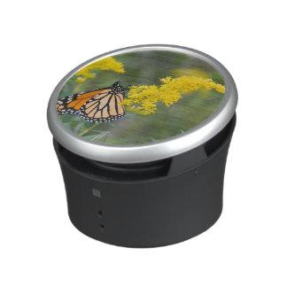 Monarch on Goldenrod Bluetooth Speaker