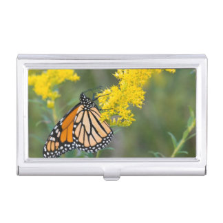 Monarch on Goldenrod Case For Business Cards