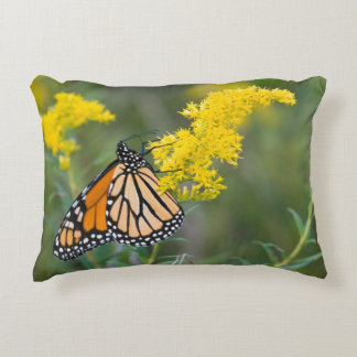 Monarch on Goldenrod Decorative Pillow