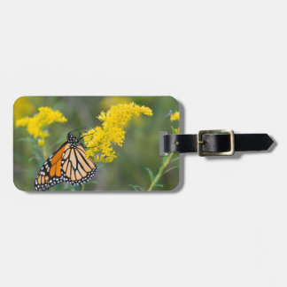 Monarch on Goldenrod Travel Bag Tag