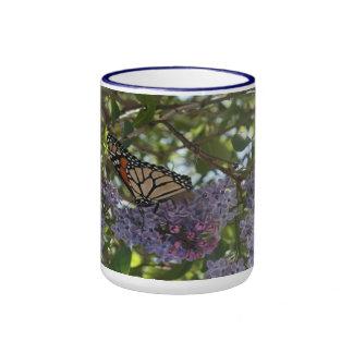 Monarch on Lilacs Coffee Mug