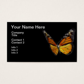 Monarch Orange Butterfly Flying Insect Business Card