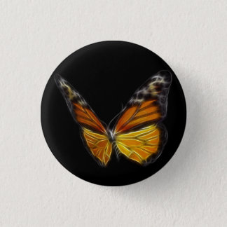 Monarch Orange Butterfly Flying Insect Button