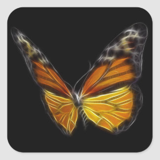 Monarch Orange Butterfly Flying Insect Square Sticker