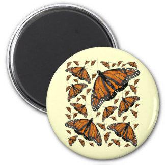 Monarch Rain 2 Inch Round Magnet