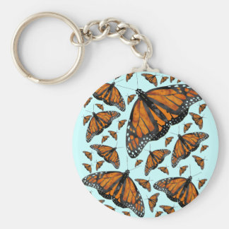 Monarch Rain Basic Round Button Keychain