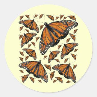 Monarch Rain Classic Round Sticker