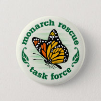 Monarch Rescue Badge Pinback Button