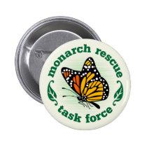 Monarch Rescue Badge Pinback Button