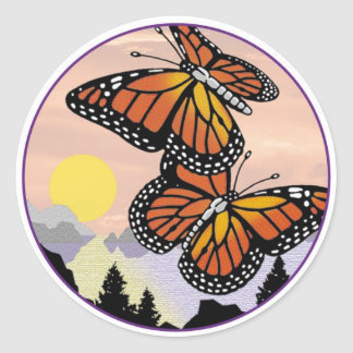 Monarch's Reign S Classic Round Sticker