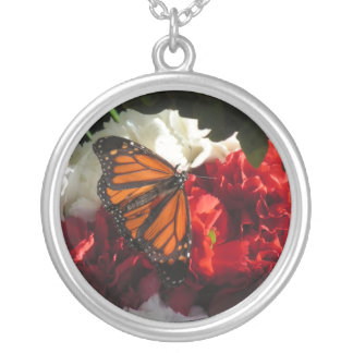 Monarch Silver Plated Necklace