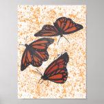 Monarch Trio Print