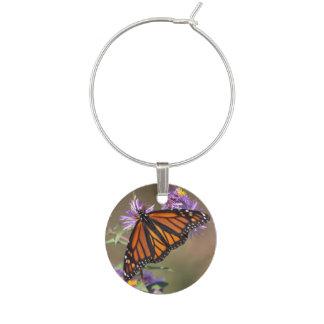 Monarch Wine Glass Charm
