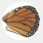 Monarch Wing Round Sticker