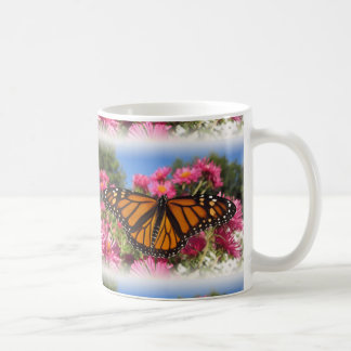 Monarch Wings - with white vignette tiles Coffee Mug
