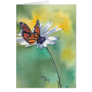 Monarch with Daisy Greeting Card