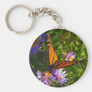 monarch with flwoers key chain