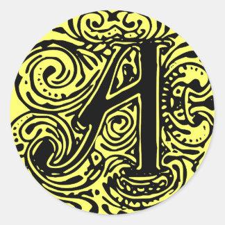 """Monarchia """"A"""" Classic Round Sticker"""