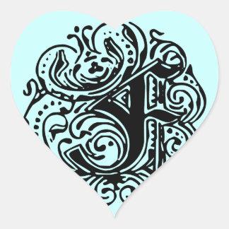 "Monarchia ""F"" Heart Sticker"