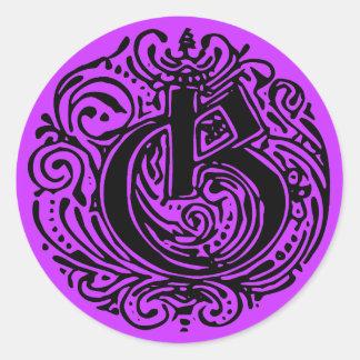 """Monarchia """"G"""" Classic Round Sticker"""