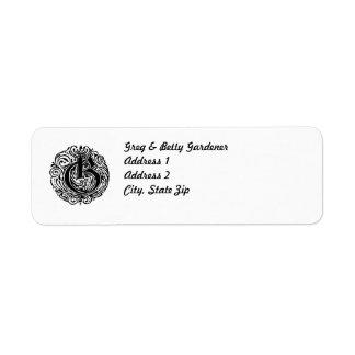 "Monarchia ""G"" Custom Return Address Labels"