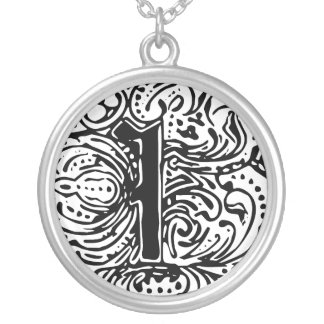"""Monarchia """"I"""" Silver Plated Necklace"""