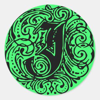 "Monarchia ""J"" Classic Round Sticker"