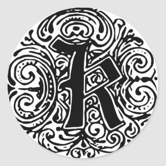 "Monarchia ""K"" Round Stickers"