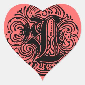 """Monarchia """"L"""" Heart Sticker"""