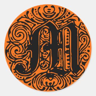 """Monarchia """"M"""" Classic Round Sticker"""
