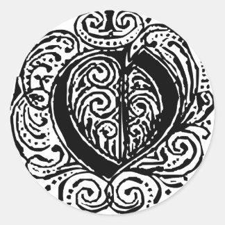 """Monarchia """"O"""" Classic Round Sticker"""