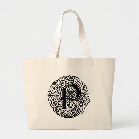 """Monarchia """"P"""" Large Tote Bag"""