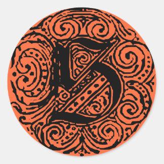 """Monarchia """"S"""" Classic Round Sticker"""