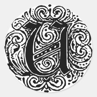 "Monarchia ""U"" Classic Round Sticker"