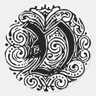 "Monarchia ""V"" Classic Round Sticker"