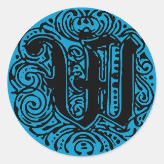 "Monarchia ""W"" Classic Round Sticker"