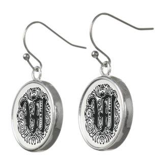 """Monarchia """"W"""" Monogram Drop Earrings"""
