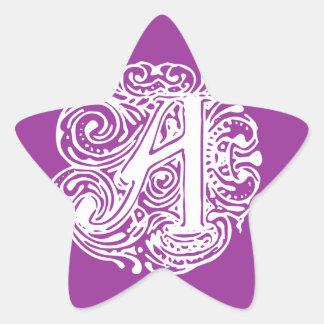 "Monarchia White Letter ""A"" Star Sticker"