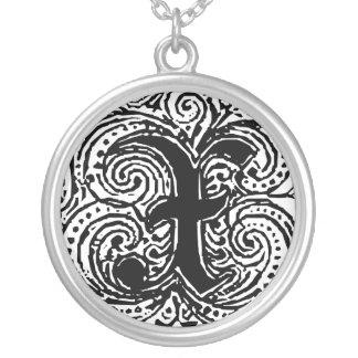 "Monarchia ""X"" Monogram Pendant Necklace"