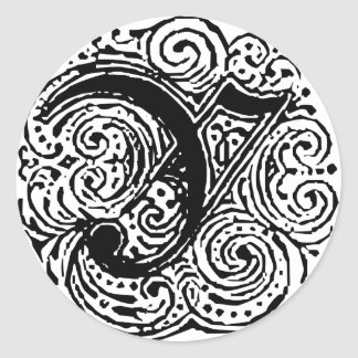 """Monarchia """"Y"""" Classic Round Sticker"""