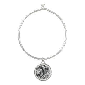 "Monarchia ""Y"" Monogram Bangle Bracelet with Charm"