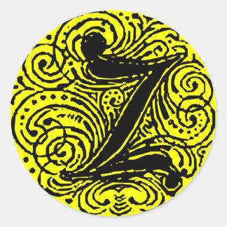 """Monarchia """"Z """" Pegatina Redonda"""