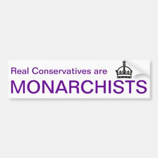 Monarchist Bumper Sticker Car Bumper Sticker