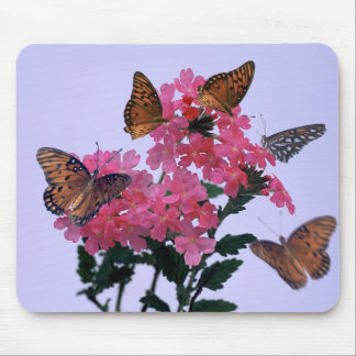 Monarchs and Pink Penta Mouse Mat