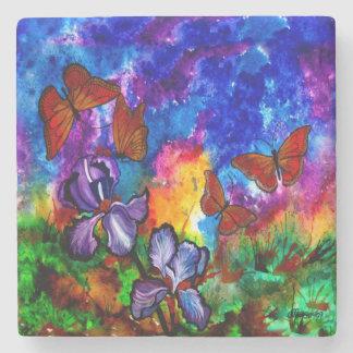Monarchs at Sunset Stone Coaster